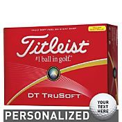 Titleist DT TruSoft Optic Yellow Personalized Golf Balls
