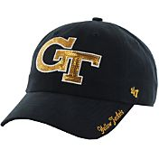 '47 Women's Georgia Tech Yellow Jackets Navy Sparkle Clean-Up Adjustable Hat