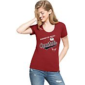 '47 Women's Washington Capitals Club Red Scoop Neck T-Shirt