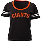 5th & Ocean Women's San Francisco Giants Black Scoop Neck Shirt