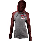 5th & Ocean Women's Kansas City Chiefs Tri-Blend Grey Full-Zip Hoodie