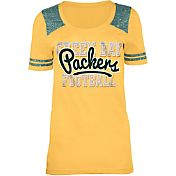 5th & Ocean Green Bay Packers Tri-Blend Gold T-Shirt