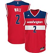 adidas Men's Washington Wizards John Wall #2 Road Red Replica Jersey