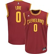 adidas Men's Cleveland Cavaliers Kevin Love #0 Road Burgundy Replica Jersey