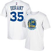 adidas Men's Golden State Warriors Kevin Durant #35 White T-Shirt