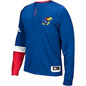 adidas Men's Kansas Jayhawks Blue Shooter Long Sleeve Shirt
