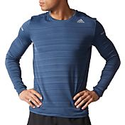 adidas Men's Sequencials Heathered Long Sleeve Running Shirt