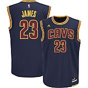 adidas Youth Cleveland Cavaliers LeBron James #23 Alternate Navy Replica Jersey