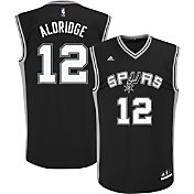 adidas Youth San Antonio Spurs LaMarcus Aldridge #12 Road Black Replica Jersey