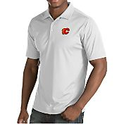 Antigua Men's Calgary Flames Inspire White Polo