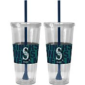 Boelter Seattle Mariners Bold Sleeved 22oz Straw Tumbler 2-Pack