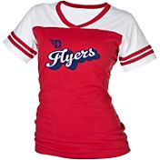 boxercraft Women's Dayton Flyers Red/White Powder Puff T-Shirt