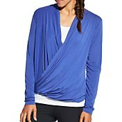 CALIA by Carrie Underwood Women's Front Wrap Long Sleeve Shirt