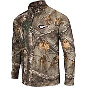 Colosseum Athletics Men's Georgia Bulldogs Camo Decoy Quarter-Zip Wind Shirt