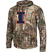 Colosseum Athletics Men's Illinois Fighting Illini Camo Breech Pullover Hoodie