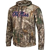Colosseum Athletics Men's Ole Miss Rebels Camo Breech Pullover Hoodie