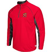 Colosseum Athletics Men's Maryland Terrapins Red Airstream Quarter-Zip Windshirt
