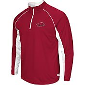 Colosseum Athletics Men's Arkansas Razorbacks Cardinal Airstream Quarter-Zip Windshirt