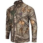 Colosseum Athletics Men's South Carolina Gamecocks Camo Decoy Quarter-Zip Wind Shirt