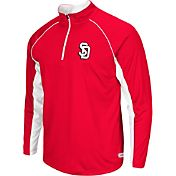 Colosseum Athletics Men's South Dakota Coyotes Red Airstream Quarter-Zip Windshirt