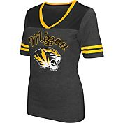 Colosseum Athletics Women's Missouri Tigers Grey Twist V-Neck T-Shirt
