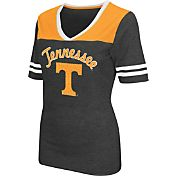Colosseum Athletics Women's Tennessee Volunteers Grey Twist V-Neck T-Shirt