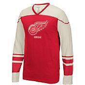 CCM Men's Detroit Red Wings Applique Red Long Sleeve T-Shirt
