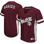 Colosseum Athletics Men's Texas A&M Aggies Maroon Batter Up Baseball Jersey