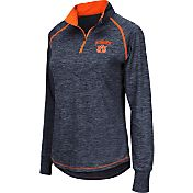 Colosseum Athletics Women's Auburn Tigers Blue Bikram Quarter-Zip