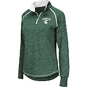 Colosseum Athletics Women's Michigan State Spartans Green Bikram Quarter-Zip