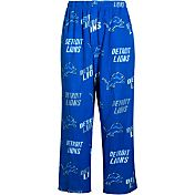 Concepts Sports Mens's Detroit Lions Blue Wildcard Fleece Pants