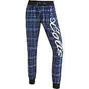 Concepts Sports Women's Indianapolis Colts Blue/White Flannel Jogger Pants
