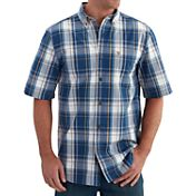 Carhartt Men's Essential Plaid Button Down Short Sleeve Shirt