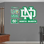 Fathead North Dakota Fighting Hawks Logo Wall Decal