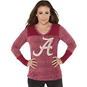 Touch by Alyssa Milano Women's Alabama Crimson Tide Crimson Goal Line Long Sleeve Shirt