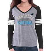 G-III for Her Women's Carolina Panthers Tri-Blend Franchise Grey Long Sleeve Shirt