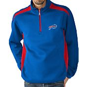 G-III Men's Buffalo Bills Hail Mary Half-Zip Blue Pullover