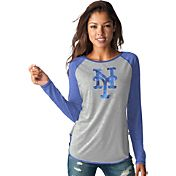 Touch by Alyssa Milano Women's New York Mets Grey/RoyalLong Sleeve Shirt