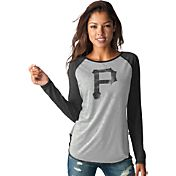 Touch by Alyssa Milano Women's Pittsburgh Pirates Grey/BlackLong Sleeve Shirt