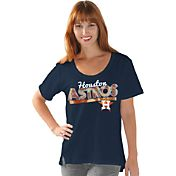 Touch by Alyssa Milano Women's Houston Astros Scoop Neck T-Shirt