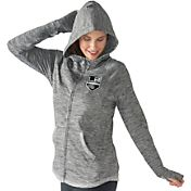 G-III 4Her Women's Los Angeles Kings Recovery Grey Full-Zip Hoodie