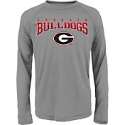 Gen2 Youth Georgia Bulldogs Grey Fadeout Long Sleeve Shirt