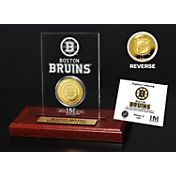 The Highland Mint Boston Bruins Gold Coin Etched Acrylic