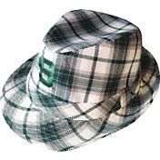 The Honour Society Men's Michigan State Spartans Green Plaid Original Fedora Hat