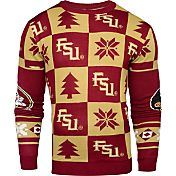 Klew Men's Florida State Seminoles Garnet Ugly Sweater