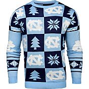 Klew Men's North Carolina Tar Heels Carolina Blue Ugly Sweater