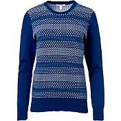 Lady Hagen Women's Bon Voyage Collection Birdseye Stitch Golf Sweater