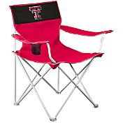 Logo Texas Tech Red Raiders Team-Colored Canvas Chair