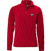 Levelwear Men's Georgia Bulldogs Red Mobility Quarter-Zip