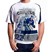 Levelwear Men's Vancouver Canucks Daniel Sedin #22 Center Ice White T-Shirt